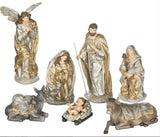 Platinum & Gold Nativity Set