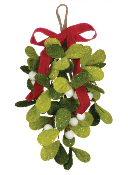 felt mistletoe drop