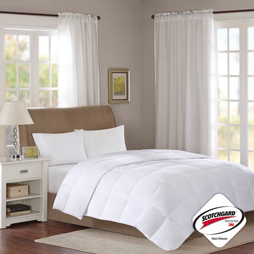 Cotton Sateen White Down Comforter