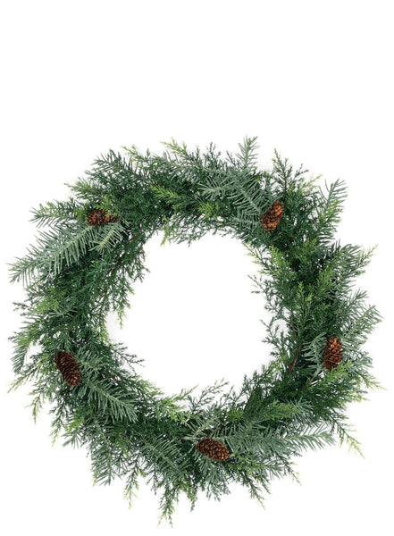 Prickly Pine Wreath - 20""