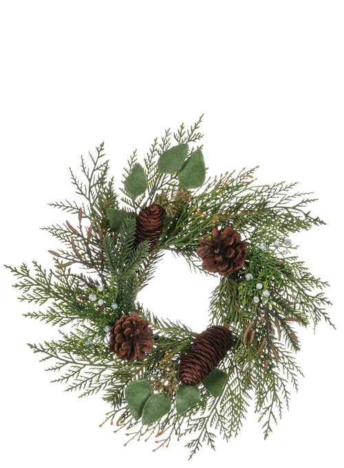 Cedar/Juniper/Eucalyptus Wreath - 4.5""