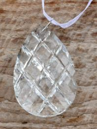 Faceted Crystal Drop Ornaments - 3""