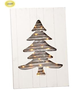 Lighted Wooden Holiday Wall Decor