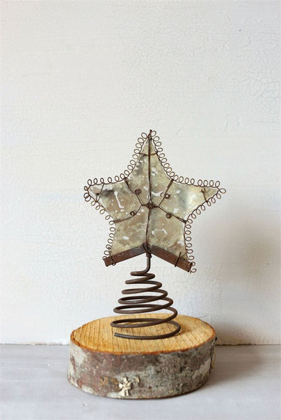 Rustic Mercury Glass Tree Topper