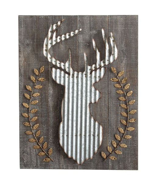 Wood & Metal Stag Wall Art