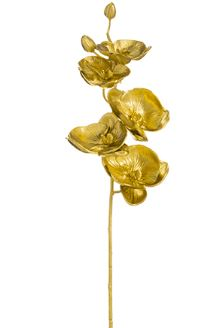 Gold Metallic Phalaenopsis Orchid Stem - 32""