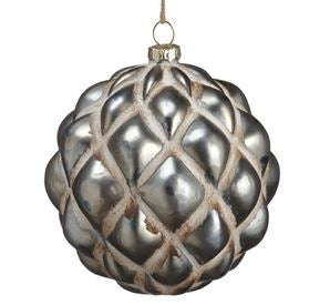 Antique Silver Textured Ornaments