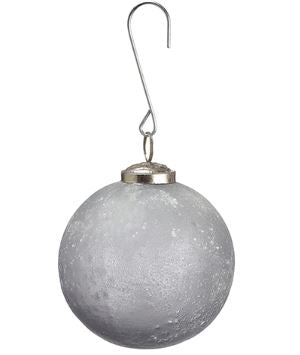 Gray Frosted Glass Ball Ornaments