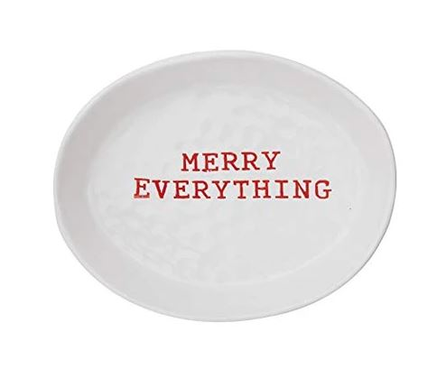 Merry Everything Stoneware Dish