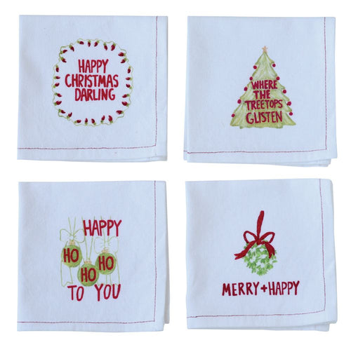 Holiday Cotton Cocktail Napkins