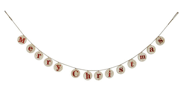 "Wooden ""Merry Christmas"" Banner"