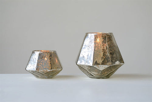 Mercury Glass Hexagon Votive