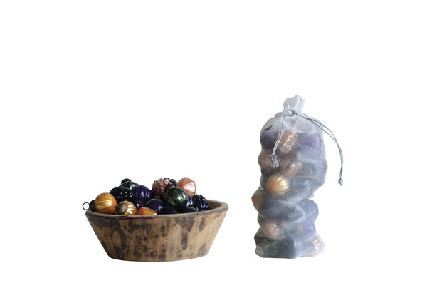 Miniature Mercury Glass Ornament Set