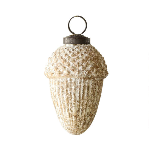 Golden Glass Acorn Ornament