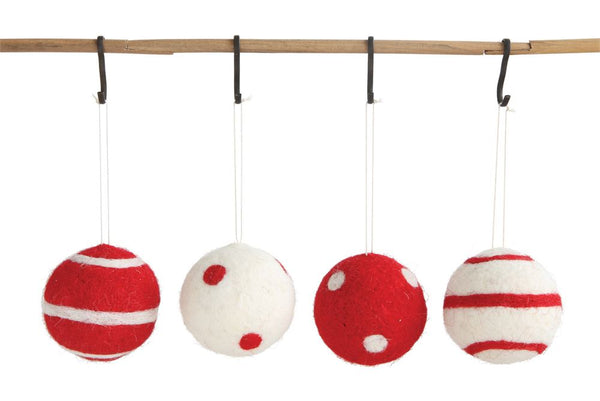 Wool Ball Ornaments