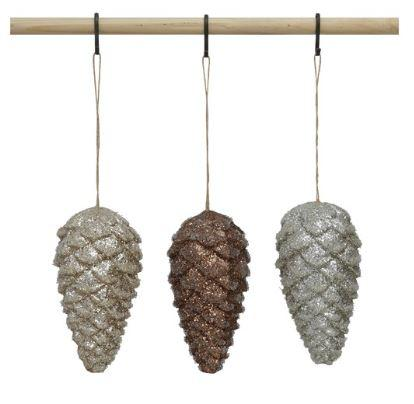 Glittered Pinecone Ornaments