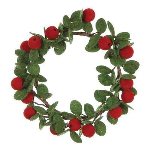 Felt Mistletoe Wreath - 7""