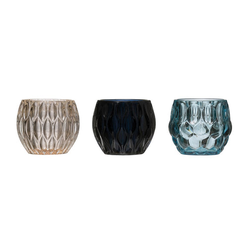 Pressed Glass Tealight Holders