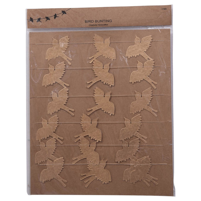 "Gold Paper Bird Garland - 118""L"