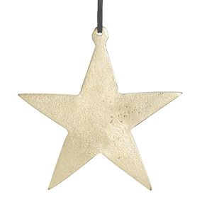 Gold Aluminum Star Ornament