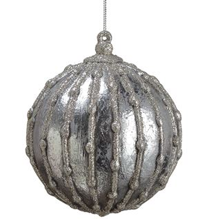 Textured Glitter Ball Ornament