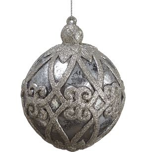 Twist Glitter Ball Ornament