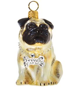 Pug with Bling Bowtie