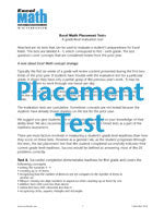 Free Placement Tests