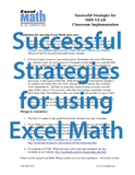 Strategies for Success with Excel Math
