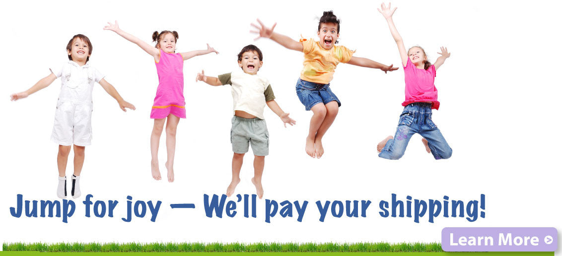 Jump for joy! - We'll pay your shipping!