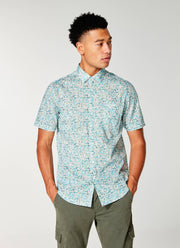 Good Man | Woven On-Point Shirt | Blue Topaz Petal Liberty