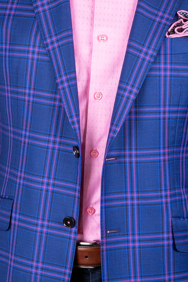 Navy with Fuchsia Pink Plaid
