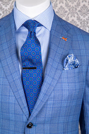 Medium Blue Glen Plaid