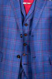 Medium Blue with Red Window Pane