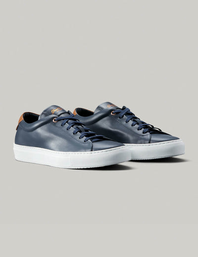 Good Man | Edge Lo-Top Sneaker | Navy and Vachetta