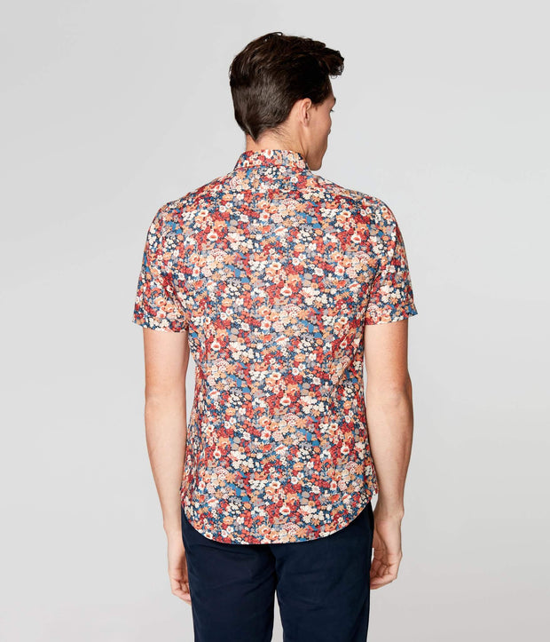 Good Man | Woven On-Point Shirt | Navy Harvest English Floral