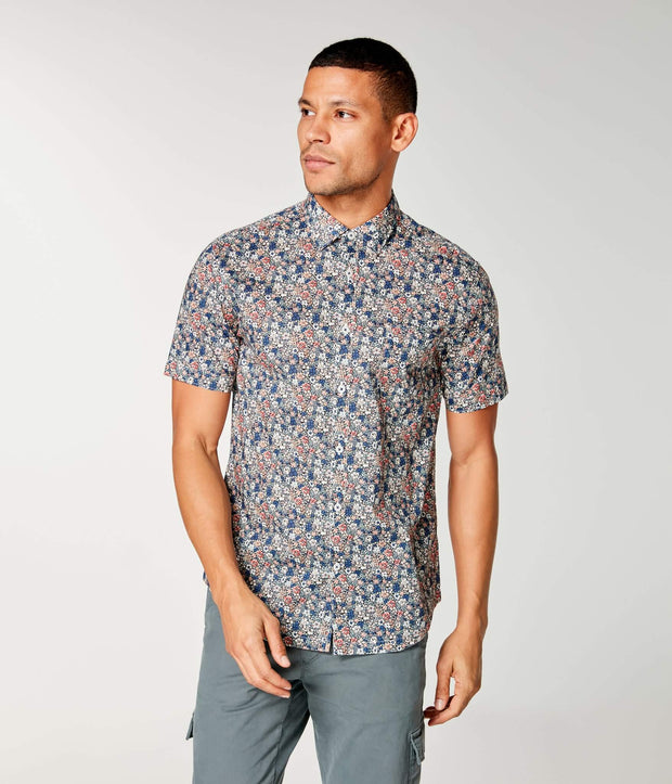 Good Man | Woven On-Point Shirt | Sunset St. Tropez Floral