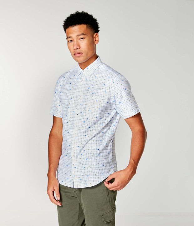 Good Man | Woven On-Point Shirt | White Wrap Dot Floral