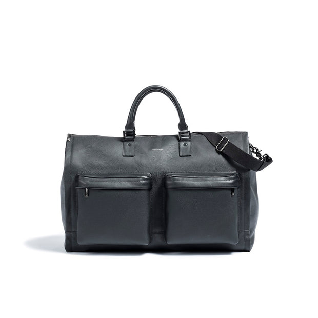 Hook & Albert Black Leather Weekender
