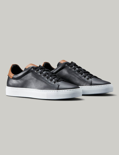 Good Man | Legend Lo-Top Sneaker | Black and Vachetta
