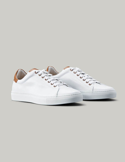 Good Man | Legend Lo-Top Sneaker | White and Vachetta