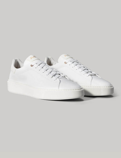 Good Man | Legend London Lo-Top Sneaker | White Pebble