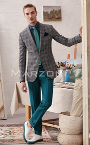 Marzoni Grey Plaid Sportcoat
