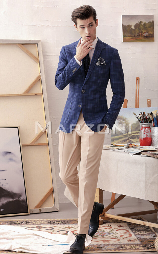 Marzoni Blue/Green Plaid Sportcoat