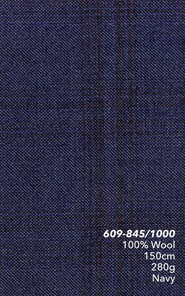 Marzoni Navy Plaid Suit