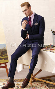 Marzoni Navy Fancy Pinstripe Suit