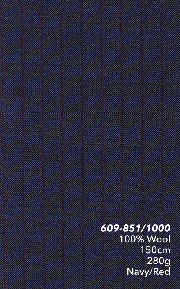 Marzoni Navy With Burgundy Pinstripe Suit