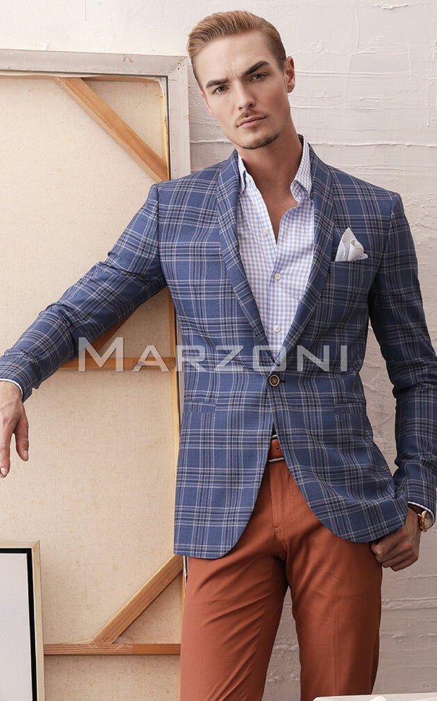 Marzoni Blue/White Plaid Sportcoat
