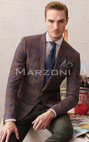 Marzoni Brown/Blue Sportcoat