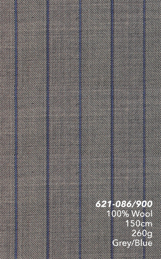 Marzoni Grey With Blue Pinstripe Suit